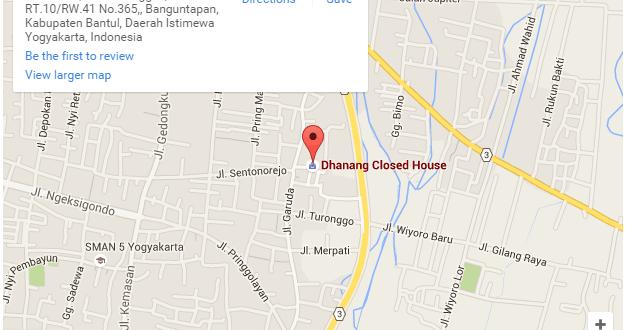 Peta Lokasi Dhanang Closed House